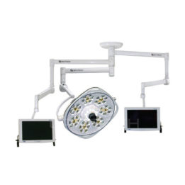 Radial Support Arm For Two Flatscreens, One 30″ Center Focus Aurora 3 LED Light