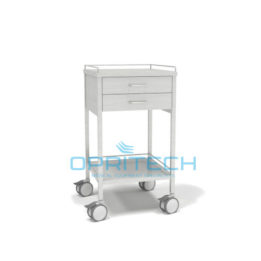 SS Trolley 2 Vertical Drawer Shelf