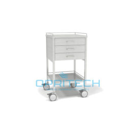 SS Trolley 3 Vertical Drawer Shelf