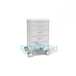 SS Trolley 5 Vertical Drawer