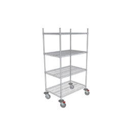 Chrome Wire 4 Shelf Trolley 610mm X 910mm