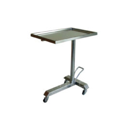 Mayo Table Stainless Steel, Hydraulic Lift