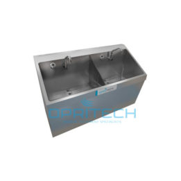 Scrub Sink Double Bay, Wall Mount