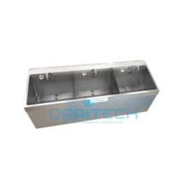 Scrub Sink Triple Bay, Wall Mount
