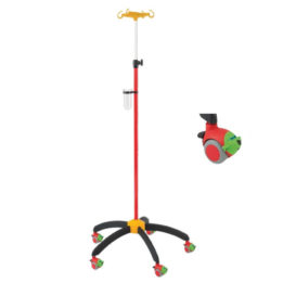 Provita Children IV Stand Rainbow Red With Airplane Castors