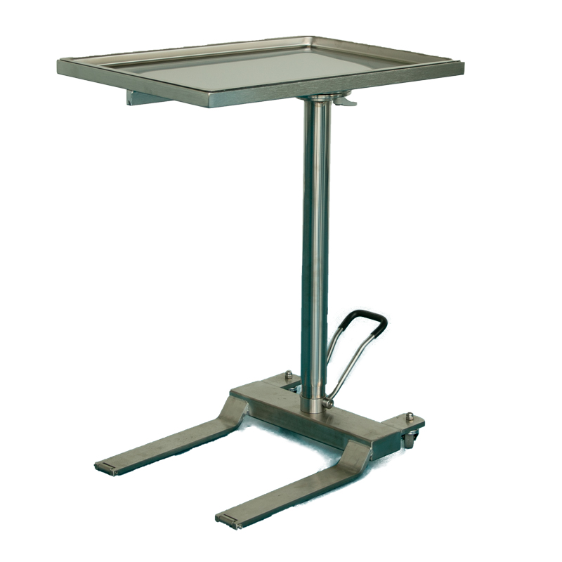 Mayo Table SS 2 Wheel, Under Table, Hydraulic Lift
