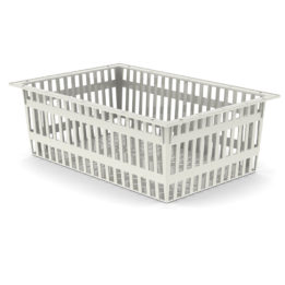 BASKET 20h X 60 X 40 – ABS, Cream Color