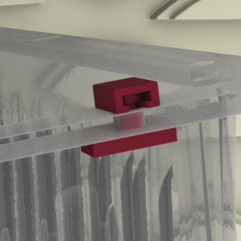 Stopper for trays and baskets - ruby 2 Piece