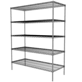 Chrome Wire Static 610mm Wide 5 Shelf Unit